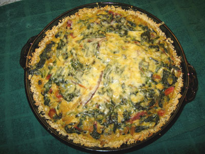 Chard, Spinach, and Onion Torta