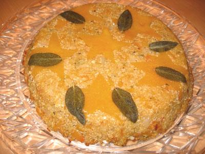 Quinoa and Butternut Squash Pie