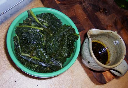 Kale with Kale Sauce