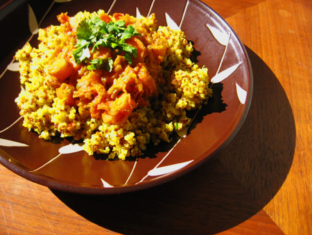 Butternut Squash and Carrot Stew with Quinoa Pilaf