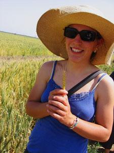 Farm Princess with wheat