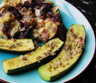 Taverna Zucchini and Potato-Raddichio Gratin