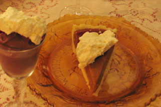 Vegan Chocolate Mousse and Crave Bakery Gluten-Free Pumpkin Pie