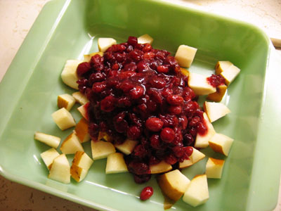 The cranberry chutney prepares to be reborn to a better life